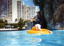 In the Hyatt pool circa 1992